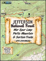 War Spur, Potts Mountain & Sartain Trails Map information